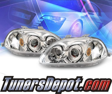 KS® Halo Projector Headlights  - 96-98 Honda Civic