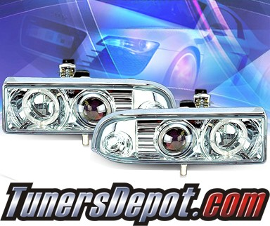 KS® Halo Projector Headlights - 98-04 Chevy S-10 S10
