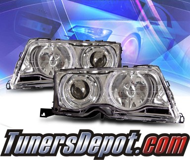 KS® Halo Projector Headlights - 99-01 BMW 323i E46 4dr.