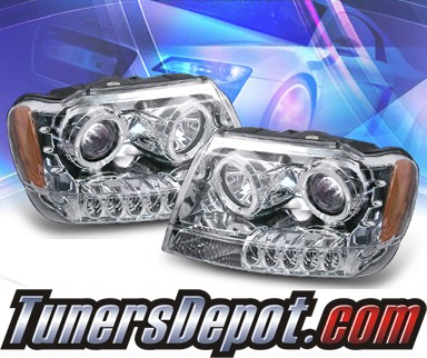 KS® Halo Projector Headlights  - 99-04 Jeep Grand Cherokee