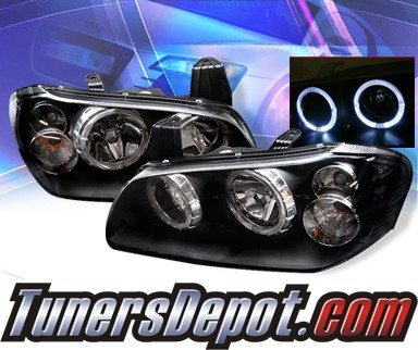 Headlight For 2001 Nissan Maxima Right Black Housing With Bulb