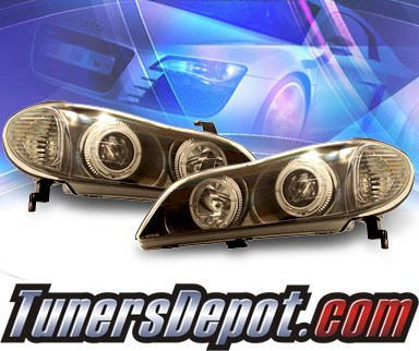 KS® Halo Projector Headlights (Black) - 00-04 Infiniti I30