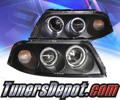 KS® Halo Projector Headlights (Black) - 01-05 VW Volkswagen Passat (Gen 2)