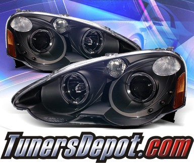 KS® Halo Projector Headlights (Black) - 02-04 Acura RSX