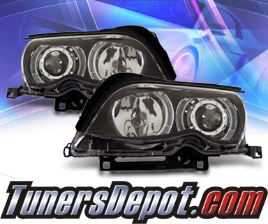 KS® Halo Projector Headlights (Black) - 02-05 BMW 330xi E46 4dr
