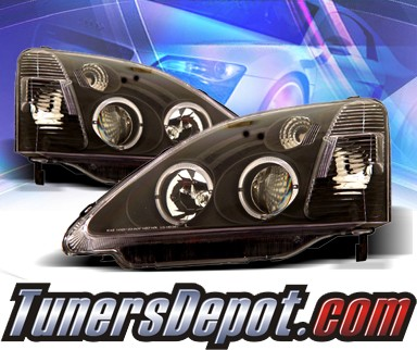 KS® Halo Projector Headlights (Black) - 02-05 Honda Civic Si 3dr.