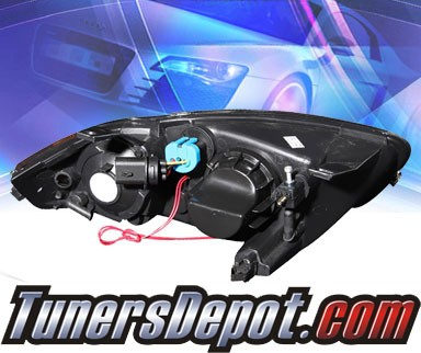 KS® Halo Projector Headlights (Black) - 03-05 Chevy Cavalier