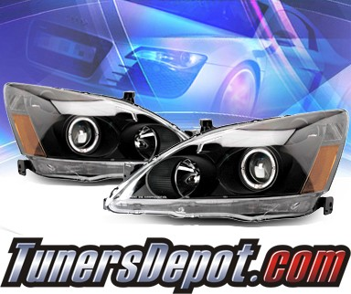 KS® Halo Projector Headlights (Black) - 03-05 Honda Accord