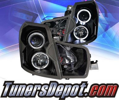 KS® Halo Projector Headlights (Black) - 03-07 Cadillac CTS