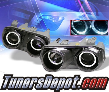 KS® Halo Projector Headlights (Black) - 94-97 Acura Integra