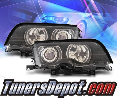 KS® Halo Projector Headlights (Black) - 99-01 BMW 323i E46 4dr.