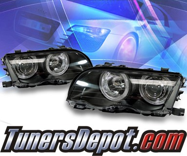 KS® Halo Projector Headlights (Black) - 99-01 BMW 325Ci E46 Convertible