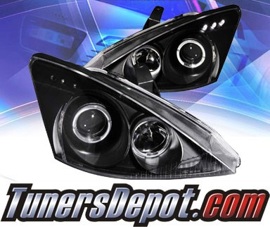 KS® LED Halo Projector Headlights (Black) - 00-02 Ford Focus
