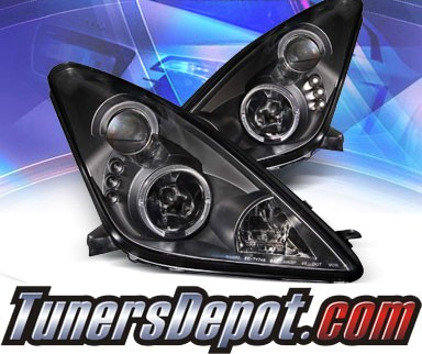 KS® LED Halo Projector Headlights (Black) - 00-05 Toyota Celica
