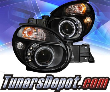 KS® LED Halo Projector Headlights (Black) - 02-04 Subaru Impreza