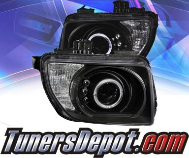 KS® LED Halo Projector Headlights (Black) - 03-06 Honda Element