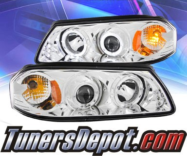 KS® LED Halo Projector Headlights (Chrome) - 00-05 Chevy Impala