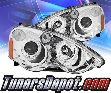 KS® LED Halo Projector Headlights (Chrome) - 02-04 Acura RSX