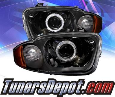 Ks Led Halo Projector Headlights Chrome 03 05 Chevy Cavalier 02 Az Cc03 Pcc R A
