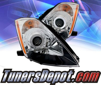 KS® LED Halo Projector Headlights (Chrome) - 03-05 Nissan 350Z