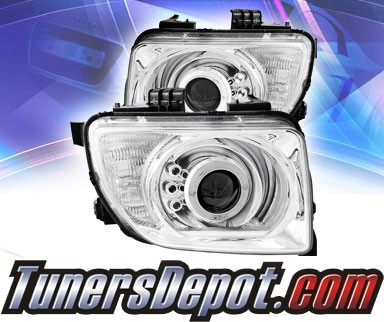 KS® LED Halo Projector Headlights (Chrome) - 03-06 Honda Element