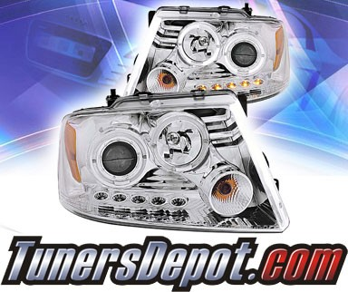 KS® LED Halo Projector Headlights (Chrome) - 04-08 Ford F-150 F150