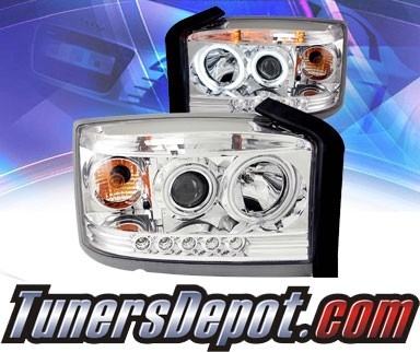KS® LED Halo Projector Headlights (Chrome) - 05-08 Dodge Dakota