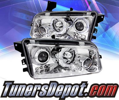KS® LED Halo Projector Headlights (Chrome) - 06-10 Dodge Charger