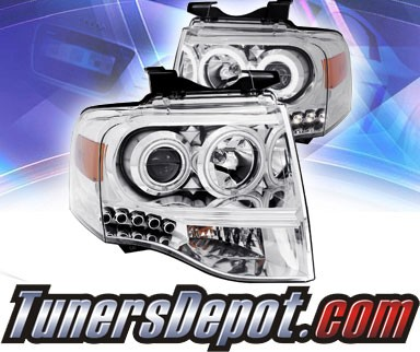KS® LED Halo Projector Headlights (Chrome) - 07-13 Ford Expedition