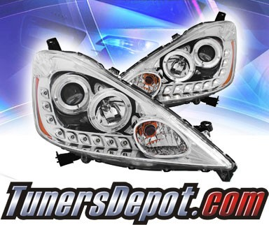 KS® LED Halo Projector Headlights (Chrome) - 09-10 Honda Fit
