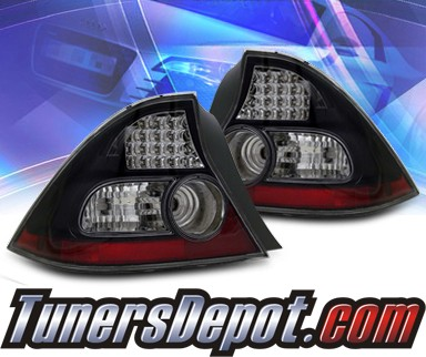 KS® LED Tail Lights (Black) - 04-05 Honda Civic 2dr.