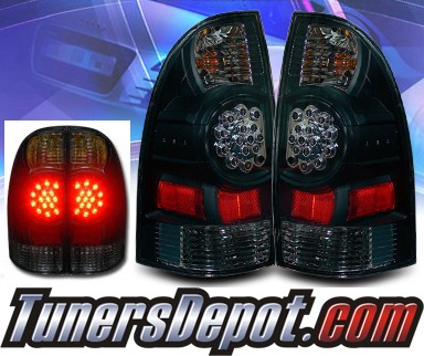 2007 toyota tacoma ks led tail lights black 03 tt05tledjm. Black Bedroom Furniture Sets. Home Design Ideas