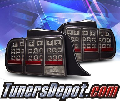 KS® LED Tail Lights (Black) - 05-09 Ford Mustang