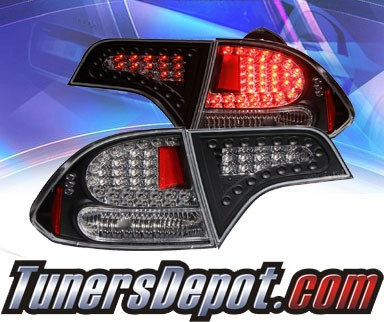 KS® LED Tail Lights (Black) - 06-11 Honda Civic 4dr.
