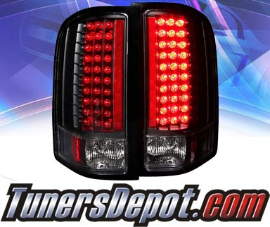 KS® LED Tail Lights (Black) - 07-13 Chevy Silverado
