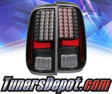 KS® LED Tail Lights (Black) - 08-13 Ford F-250 F250 Super Duty