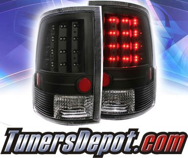 KS® LED Tail Lights (Black) - 09-16 Dodge Ram Pickup