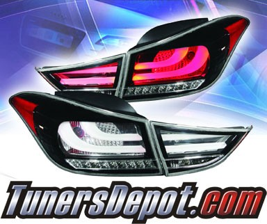 KS® LED Tail Lights (Black) - 11-13 Hyundai Elantra