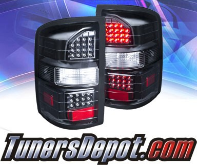 KS® LED Tail Lights (Black) - 14-15 GMC Sierra