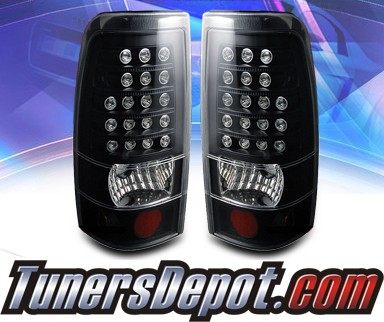 KS® LED Tail Lights (Black) - 2007 Chevy Silverado Dualie Classic