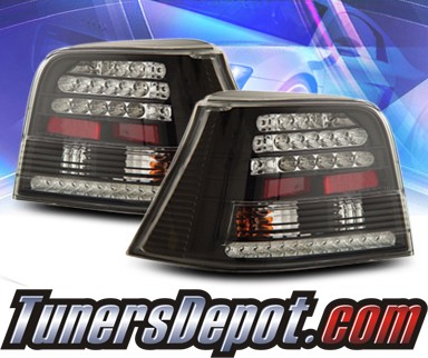 KS® LED Tail Lights (Black) - 99-04 VW Volkswagen Golf IV