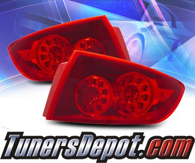 KS® LED Tail Lights (Red) - 04-06 Mazda 3 4dr Sedan 2 Pc. Taillight