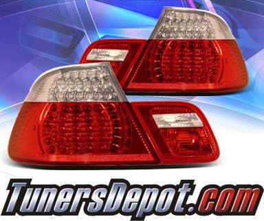 KS® LED Tail Lights (Red/Clear) - 00-01 BMW 325Ci Convertible E46