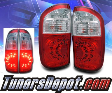 KS® LED Tail Lights (Red/Clear) - 00-05 Toyota Tundra Double Cab
