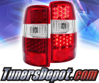 KS® LED Tail Lights (Red/Clear) - 00-06 Chevy Suburban (exc. Barn Door model)
