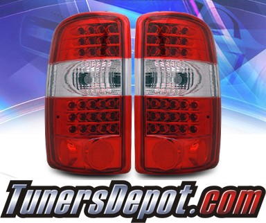 KS® LED Tail Lights (Red/Clear) - 00-06 GMC Yukon XL (w/o Barn Doors)