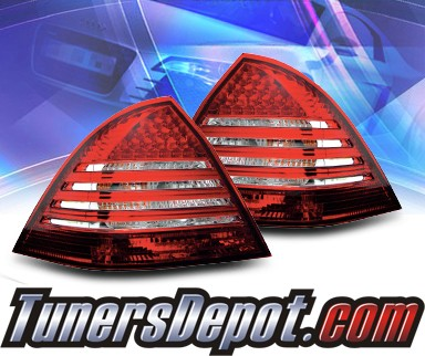 KS® LED Tail Lights (Red/Clear) - 01-04 Mercedes-Benz C320 W203 Sedan