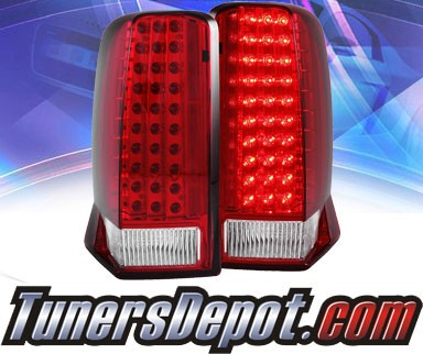 KS® LED Tail Lights (Red/Clear) - 02-06 Cadillac Escalade