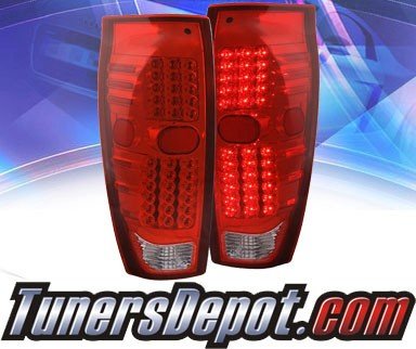 KS® LED Tail Lights (Red/Clear) - 02-06 Chevy Avalanche