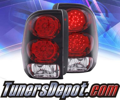 KS® LED Tail Lights (Red/Clear) - 02-09 Chevy TrailBlazer